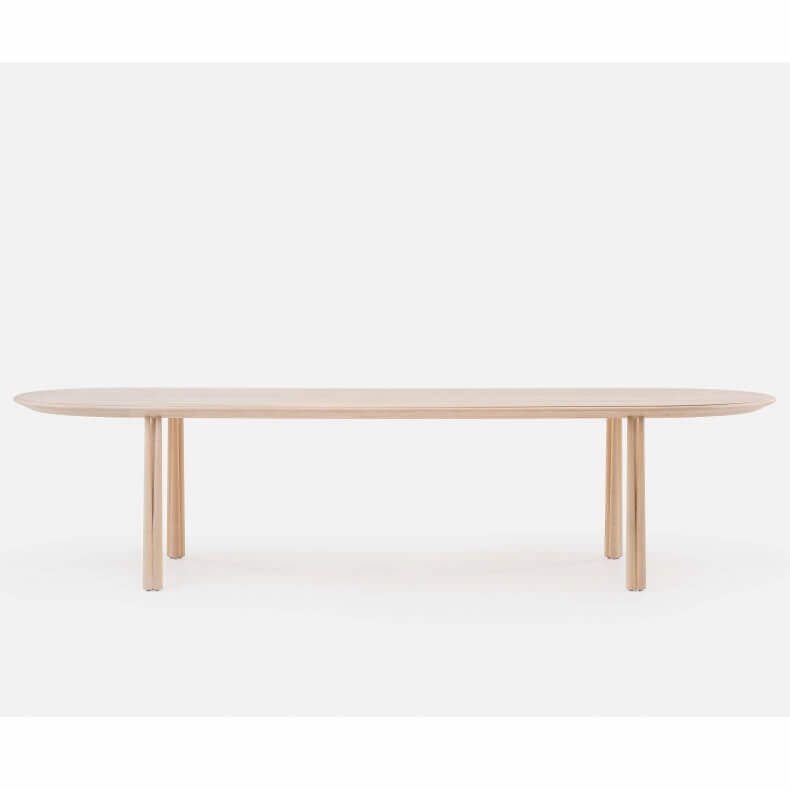 051L ELLIOT OBLONG TABLE SHOWN IN WHITE OILED ASH