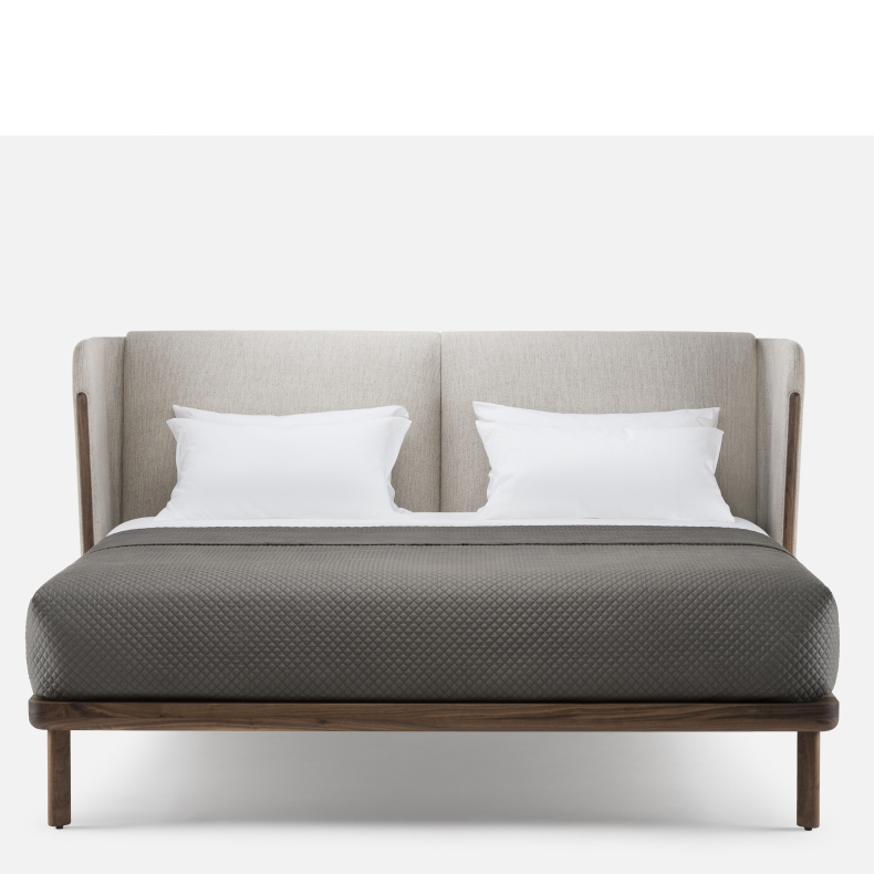Low Dubois Bed - no bedsides by Luca Nichetto - Suite Wood