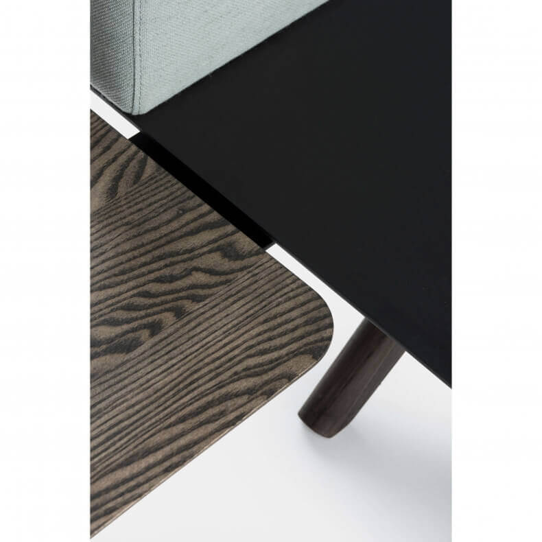 Hepburn Side Table by Matthew Hilton in black oiled ash - Suite Wood