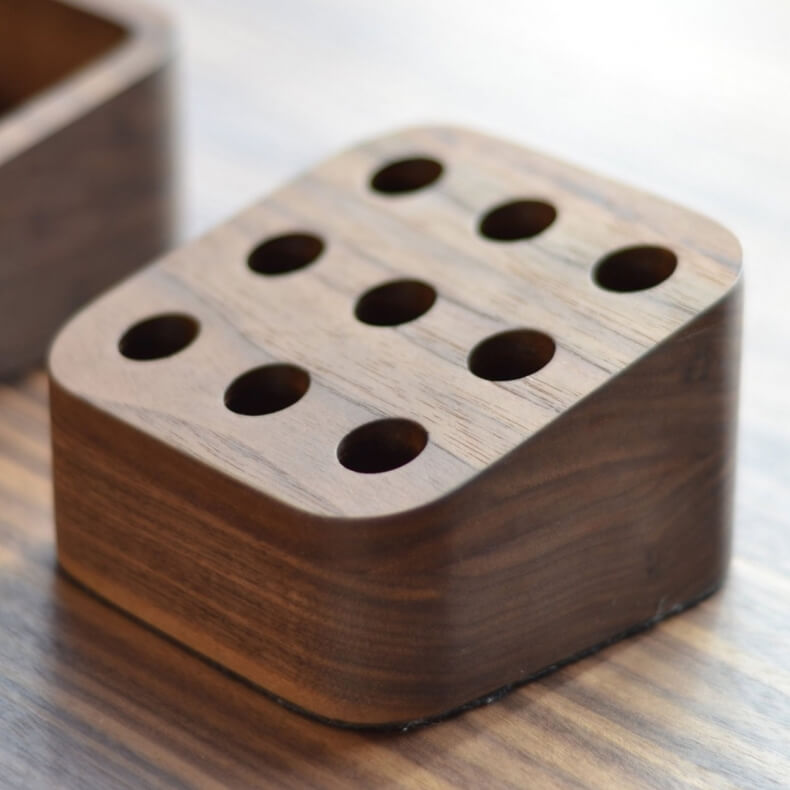 Small Pencil Holder for Orson Desk by Matthew Hilton in walnut - Suite Wood