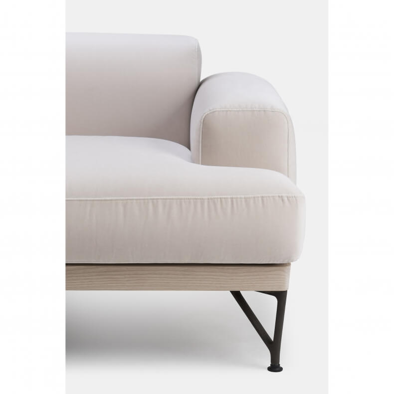 ARMSTRONG 3-SEATER SOFA SHOWN IN WHITE OILED ASH AND HARALD 2 212 FABRIC