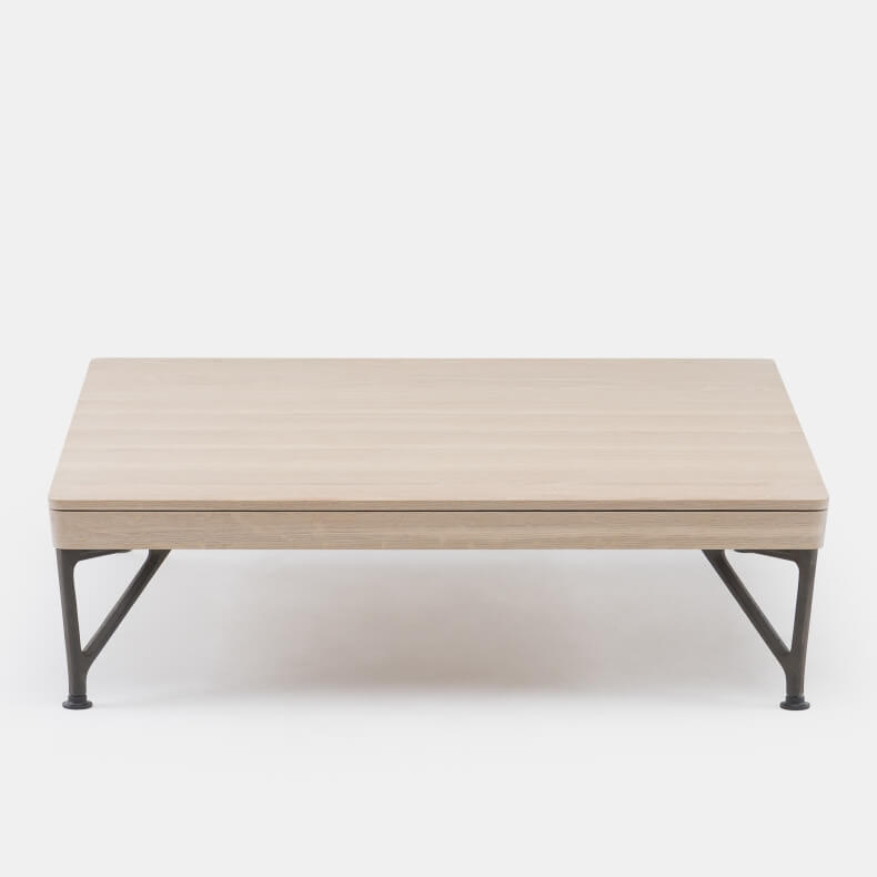 ARMSTRONG COFFEE TABLE SHOWN IN WHITE OILED OAK