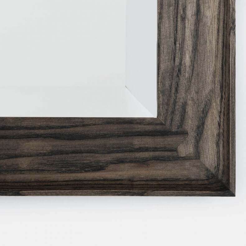 CONISTON LARGE RECTANGULAR MIRROR SHOWN IN BLACK OILED ASH