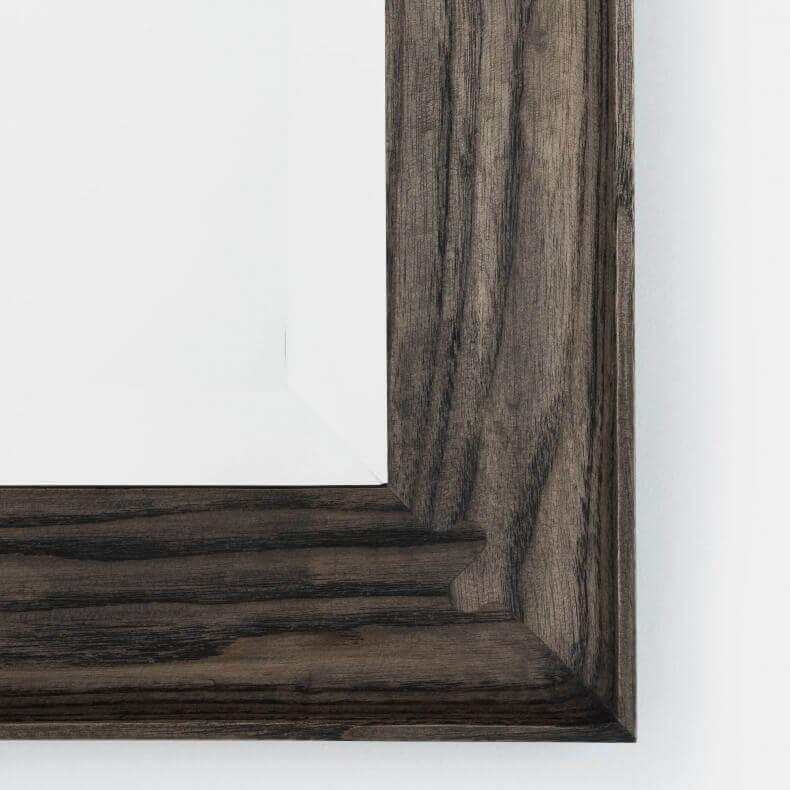 Coniston Large Rectangular Mirror door Matthew Hilton in zwart geolied essenhout
