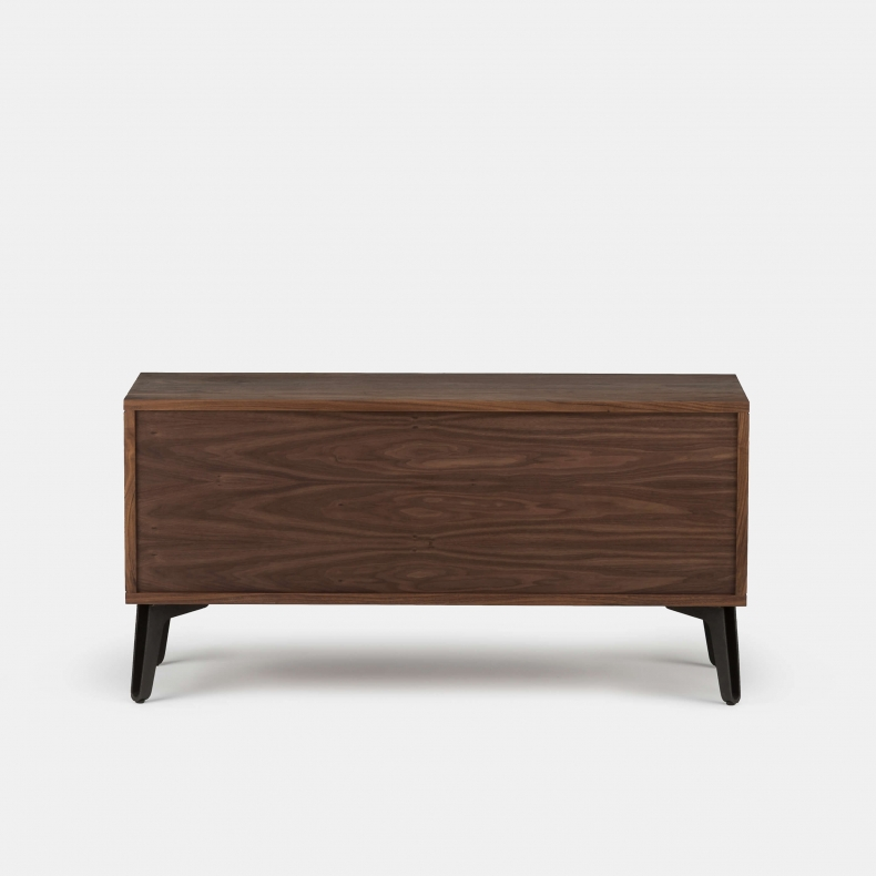 MCQUEEN BEDSIDE SHOWN IN DANISH OILED WALNUT - BACK
