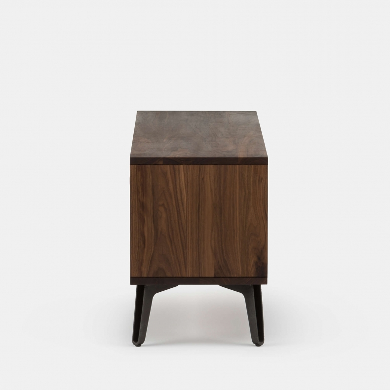 MCQUEEN BEDSIDE SHOWN IN DANISH OILED WALNUT - SID
