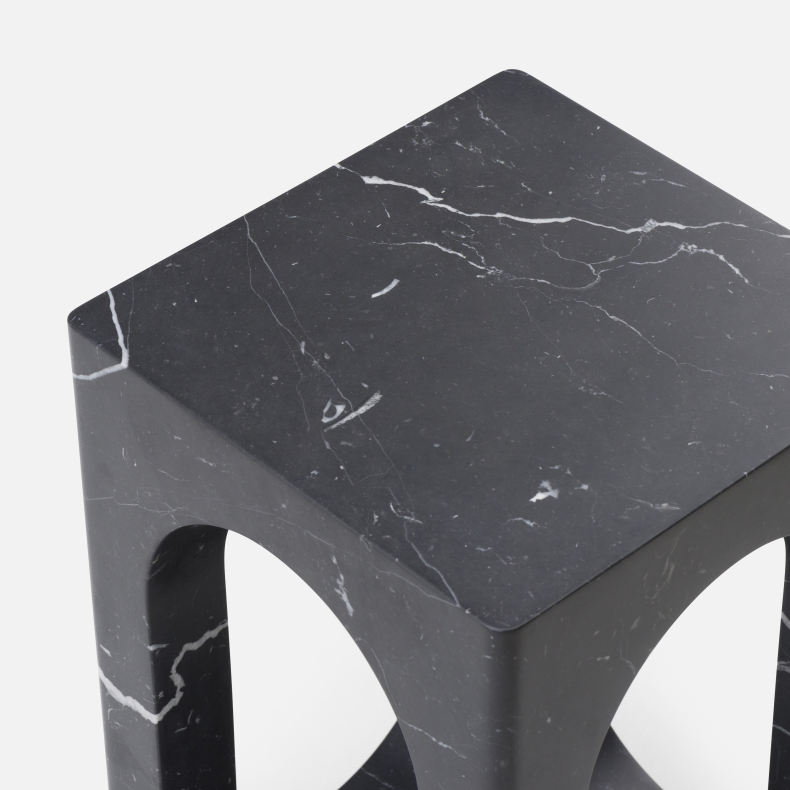 Carlo Side Table in black marquina marble