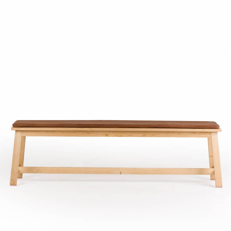 Bench by Studioilse in oak with optional leather seat pad