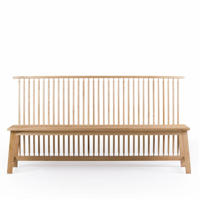 Bench with Back by Studioilse in oak