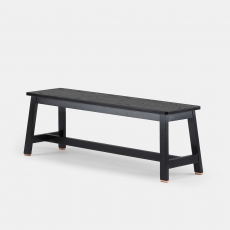 Two-Seater Bench by Studioilse in black stained ash