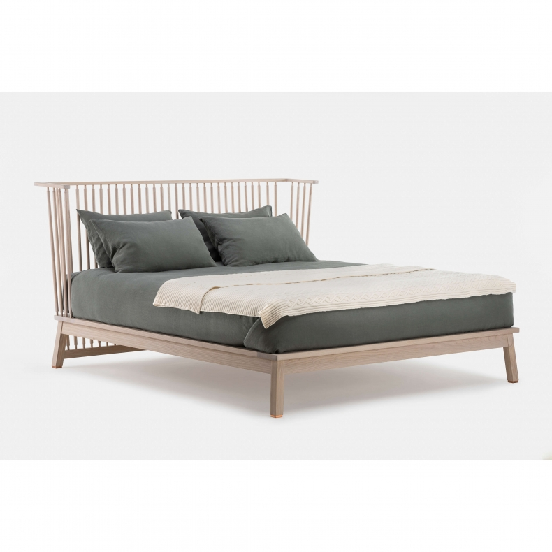 COMPANIONS BED SHOWN IN WHITE OILED ASH