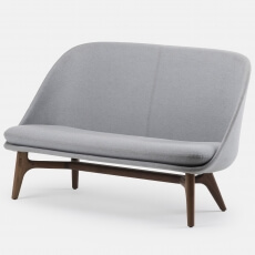 SOLO SOFA BY NERI & HU SHOWN IN DANISH OILED WALNUT AND FABRIC