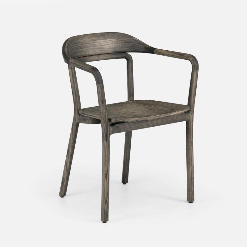 Duet Chair in black-oiled ash