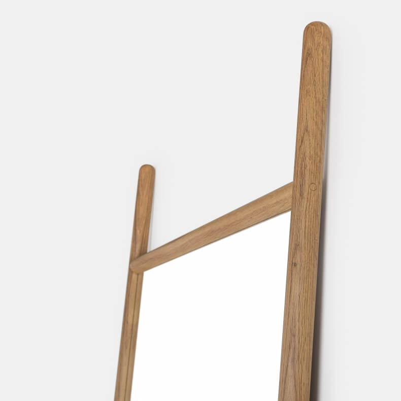 EXTEND LARGE MIRROR SHOWN IN DANISH OILED OAK
