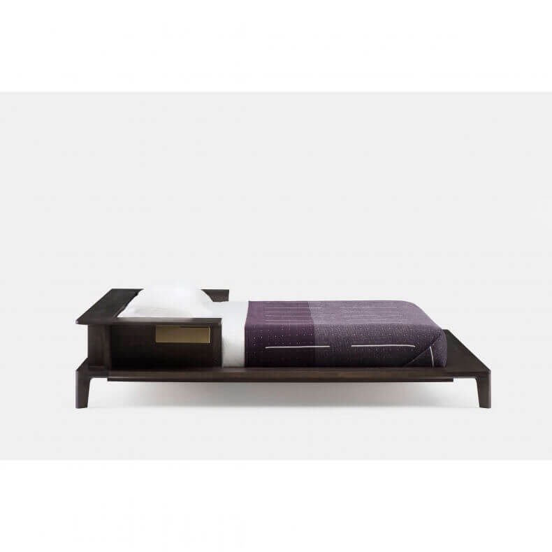 PLATFORM BED SHOWN IN BROWN STAINED ASH- SIDE