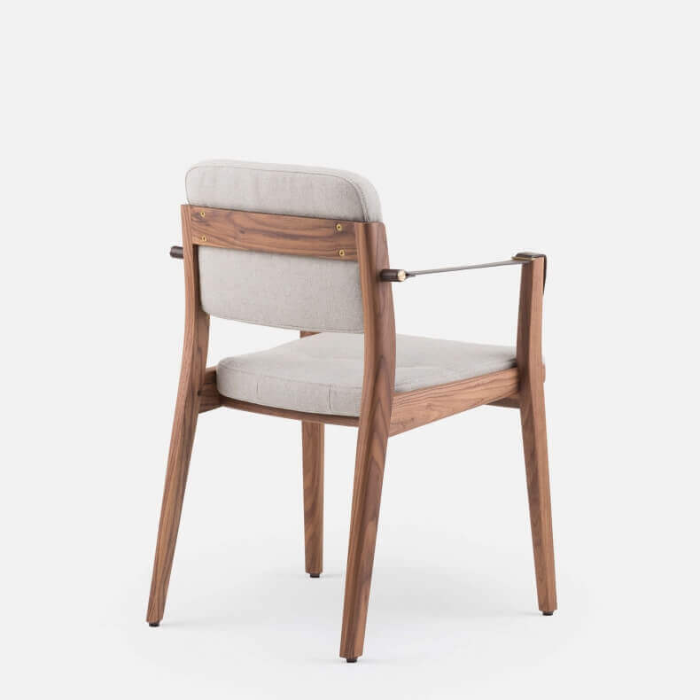 Capo Dining Armchair by Neri & Hu in walnut