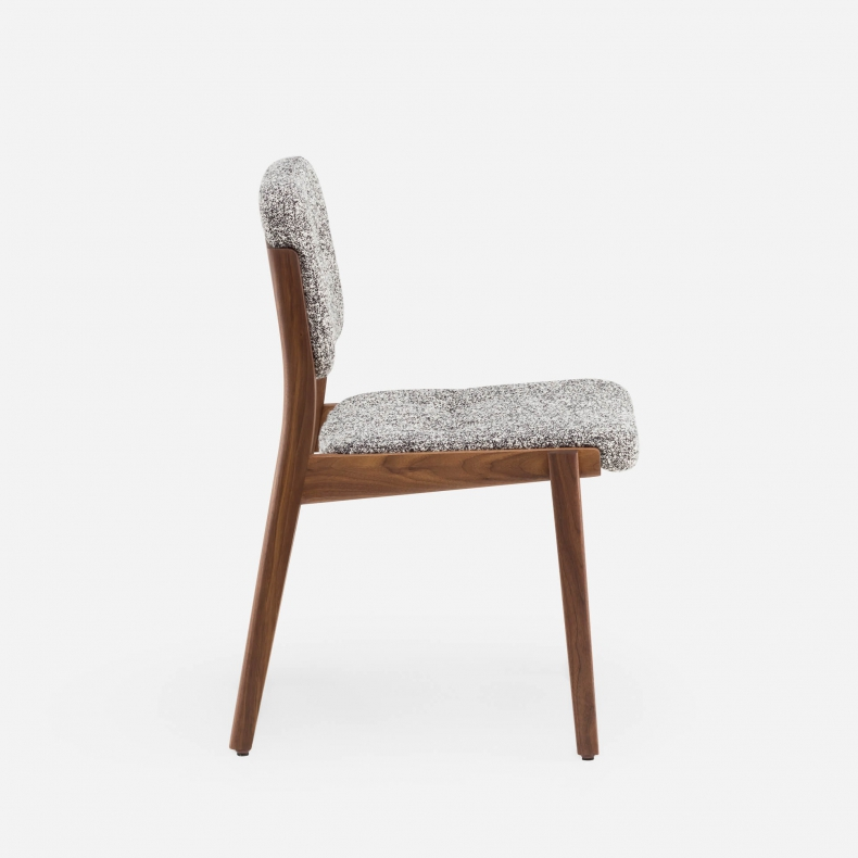 780 Capo Dining Chair by NeriHu in Danish oiled walnut and Zero 004 fabric
