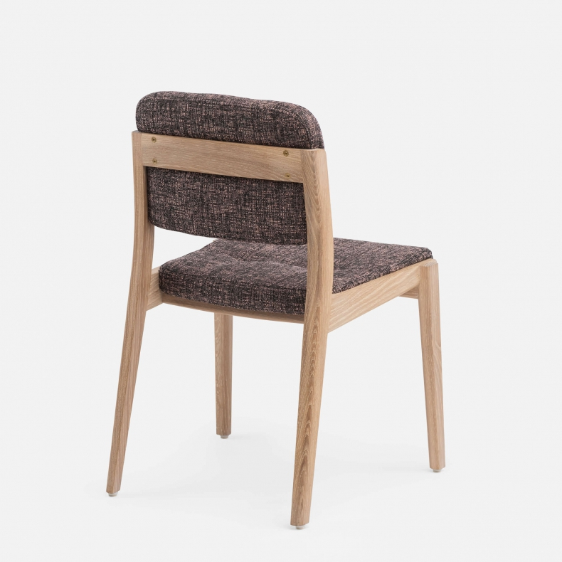 780 Capo Dining Chair by NeriHu in white oiled oak and Sonar 3 684 fabric-back
