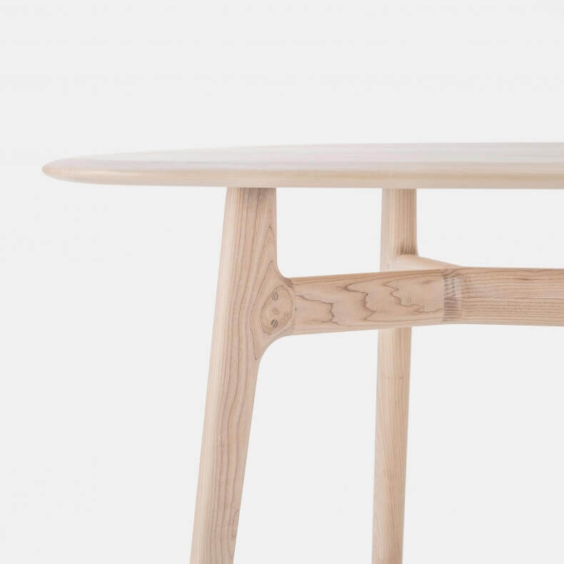 SOLO OBLONG TABLE SHOWN IN WHITE OILED ASH