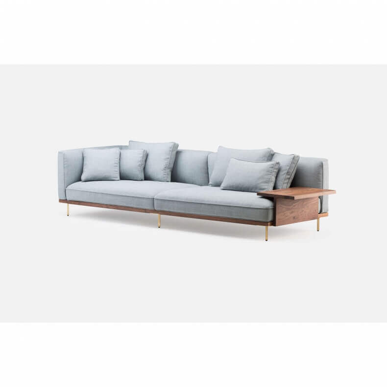 Belle Reeve Sofa door Luca Nichetto in walnotenhout - Suite Wood