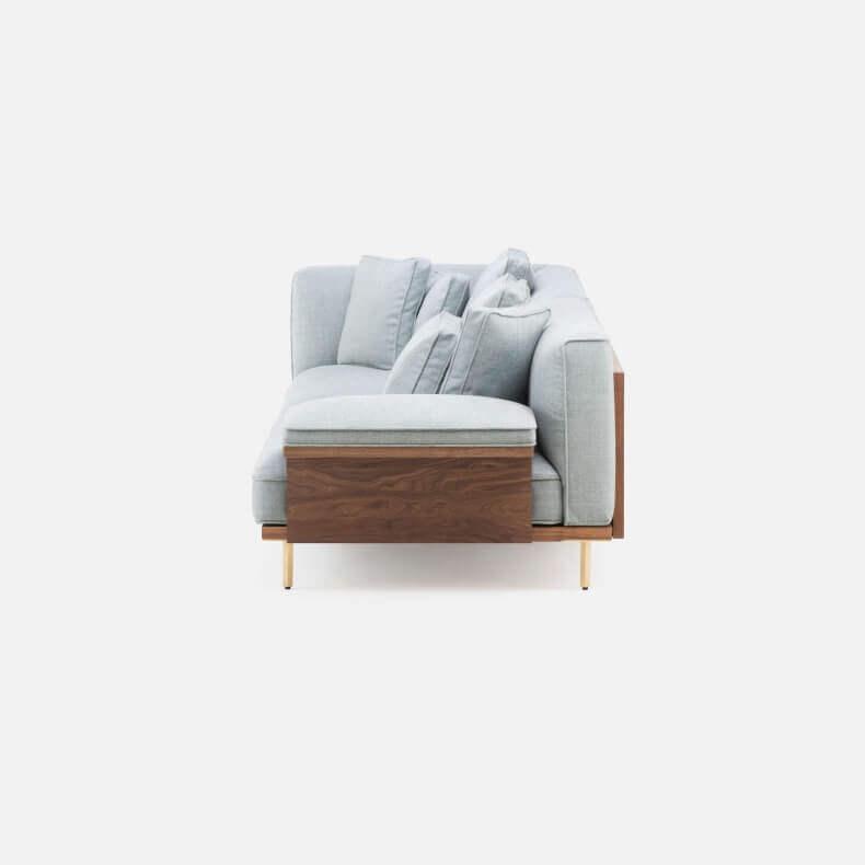 Belle Reeve Sofa door Luca Nichetto in walnotenhout - Suite Wood