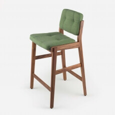 CAPO BAR STOOL SHOWN IN DANISH OILED WALNUT AND FABRIC