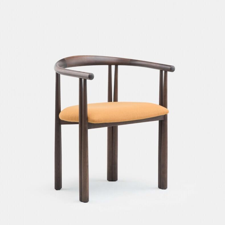 Elliot Chair door Jason Miller in zwart geolied walnotenhout