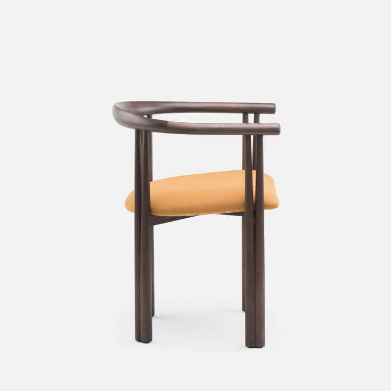 Elliot Chair by Jason Miller in black oiled walnut