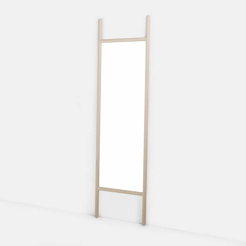 EXTEND MEDIUM MIRROR SHOWN IN WHITE OILED OAK