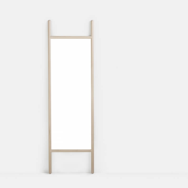 Extend Medium Mirror door Neri & Hu in wit geolied eikenhout