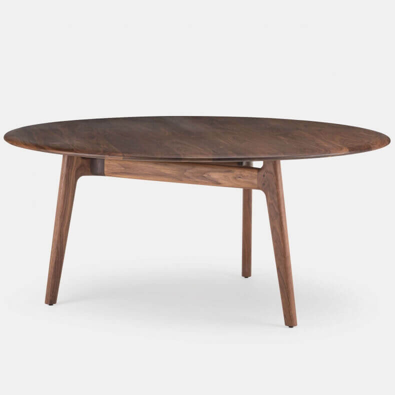 752LR SOLO LARGE ROUND TABLE SHOWN IN DANISH OILED WALNUT