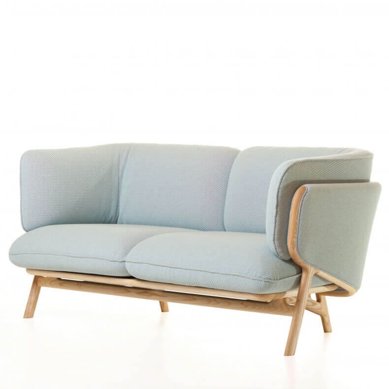 Stanley 2-Seater Sofa door Luca Nichetto in Danish Oiled Ash