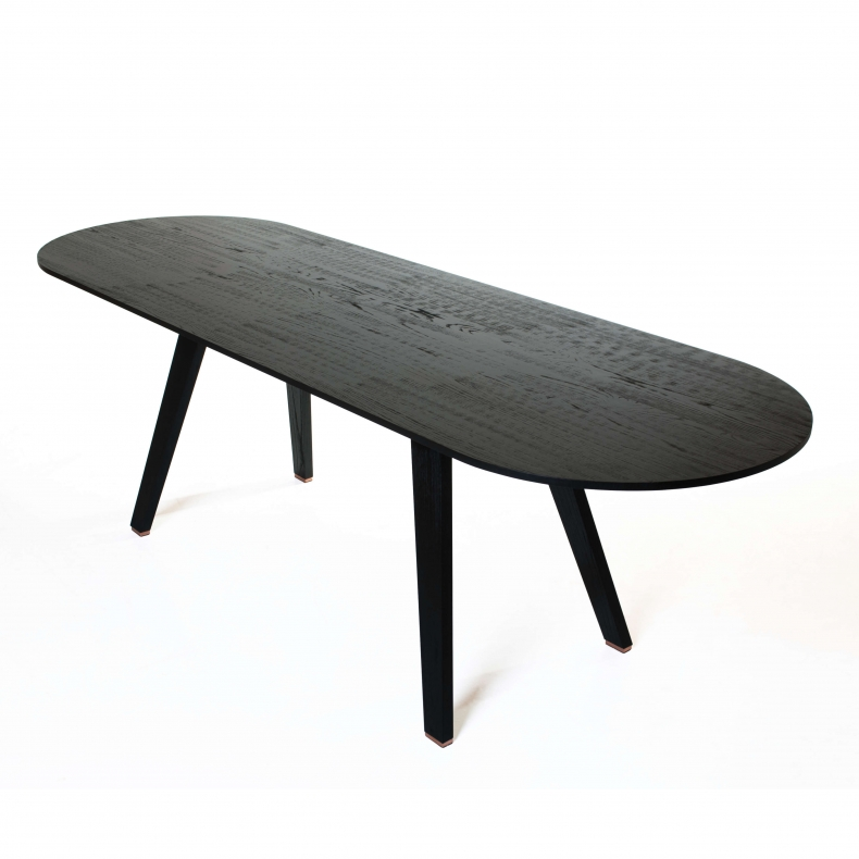 Together Fixed Table by Studioilse in black stained ash