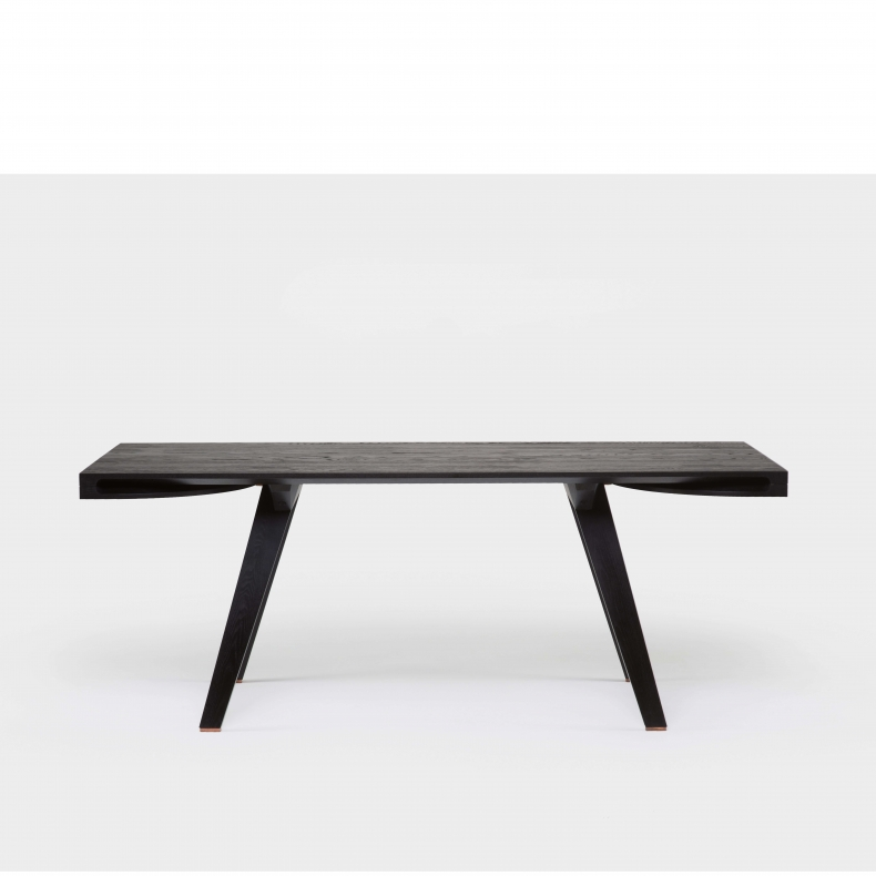 Together Extending Table by Studioilse in black painted ash