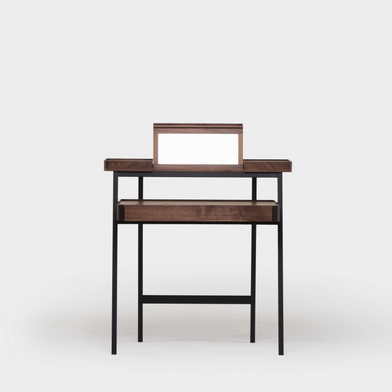 TRAY DESK SHOWN IN DANISH OILED WALNUT - OPEN