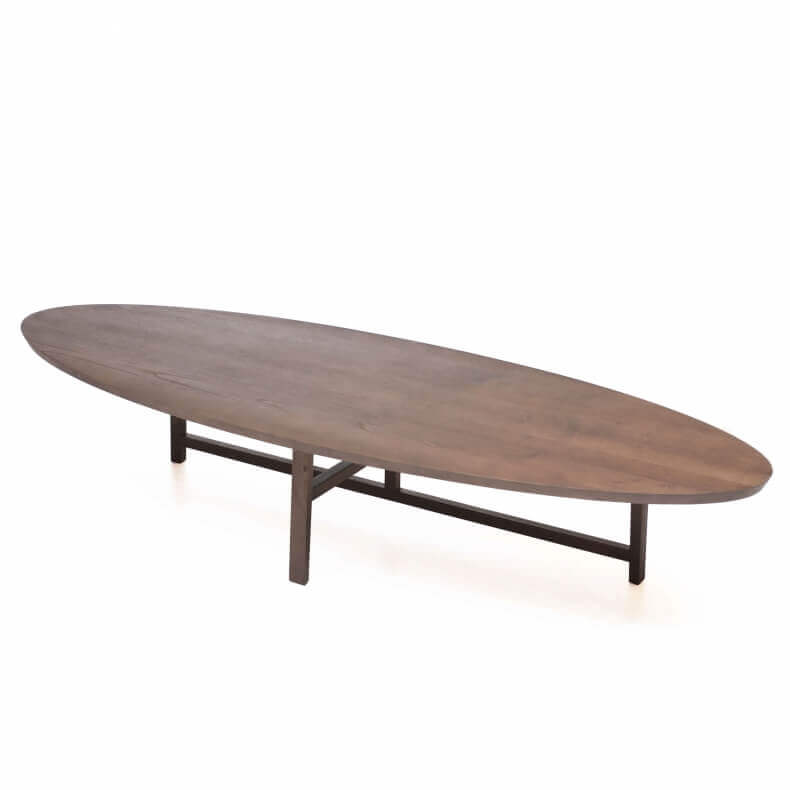 Trio Oval Coffee Table door Neri & Hu in walnotenhout