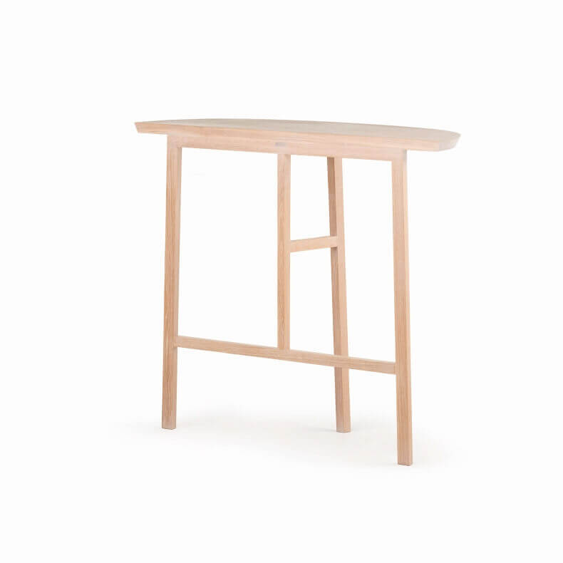 TRIO CONSOLE TABLE SHOWN IN WHITE OILED OAK