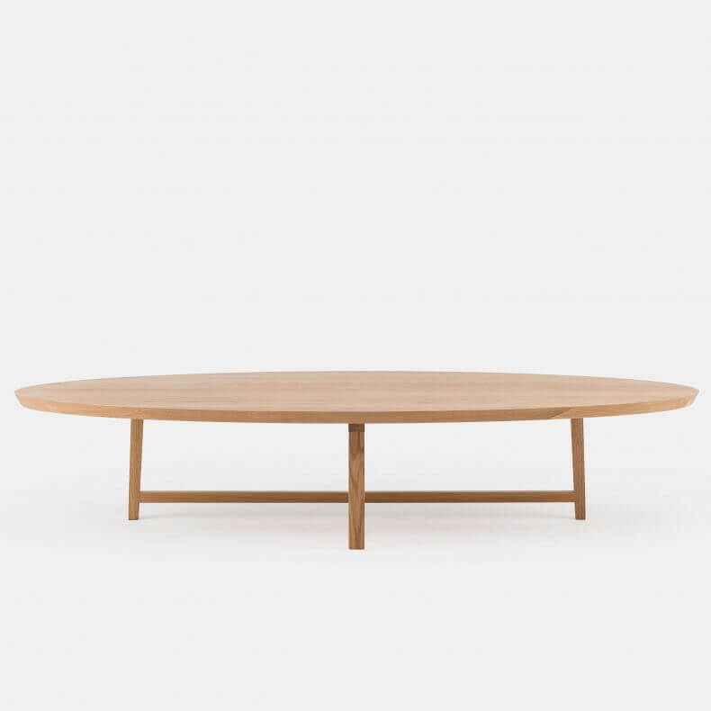 Trio Oval Coffee Table door Neri & Hu in eikenhout