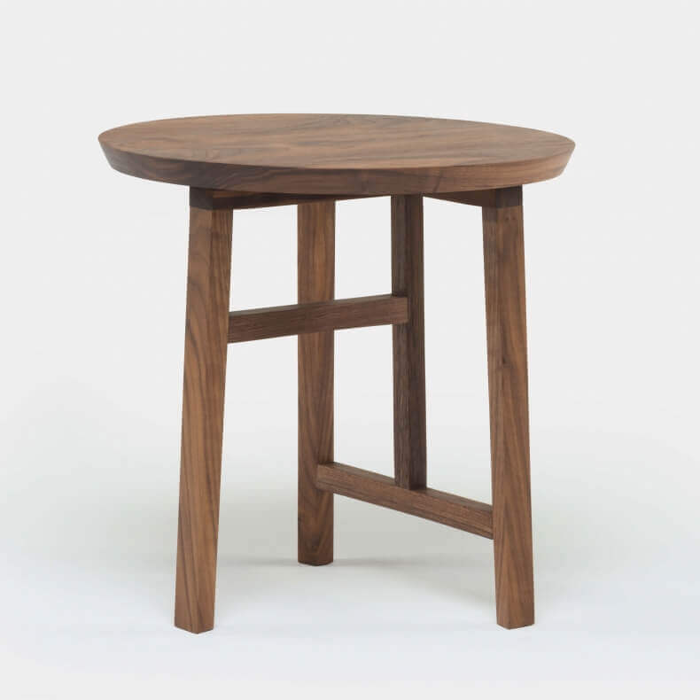 TRIO SIDE TABLE SHOWN IN DANISH OILED WALNUT