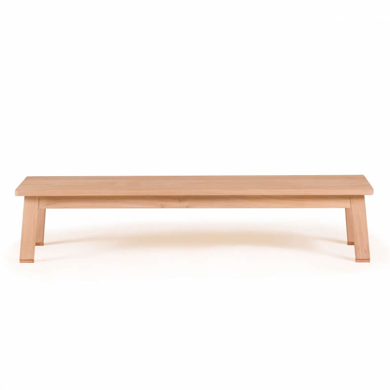 Studioilse Two Seater Low Bench in wit geolied eikenhout