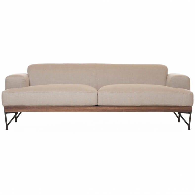 Armstrong 2-seater Sofa door Matthew Hilton in walnotenhout