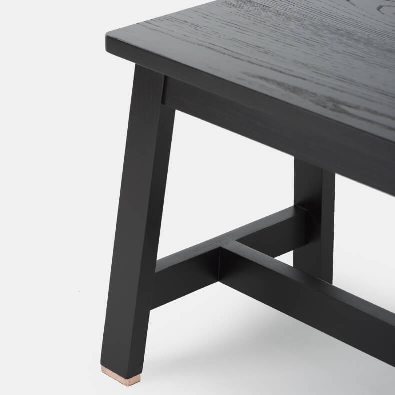 Bench by Studioilse in black painted ash