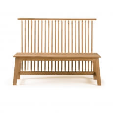 Two-Seater Bench with Back by Studioilse in danish oiled oak