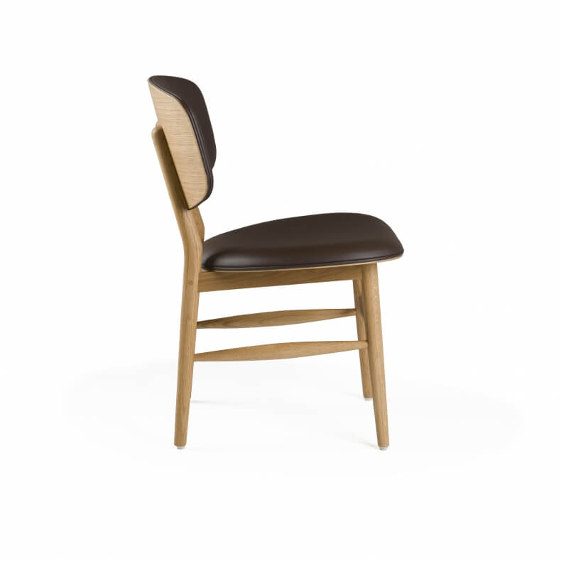 Butterfly Chair by Autoban in oak with leather