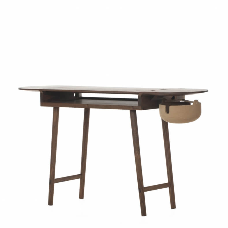 COMPANIONS WRITING DESK SHOWN IN BLACK PAINTED ASH
