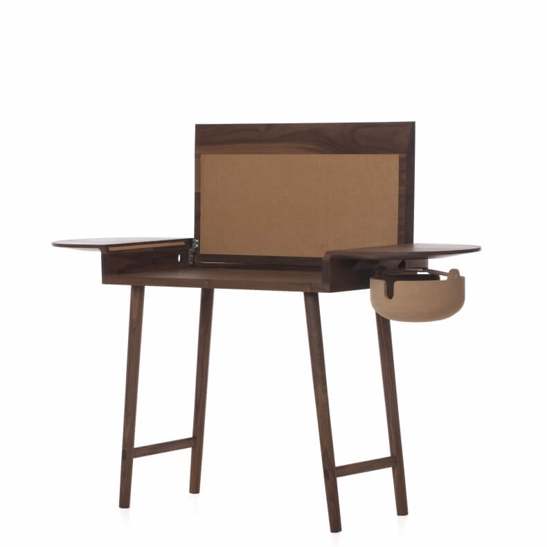 COMPANIONS WRITING DESK SHOWN IN DANISH OILED WALNUT