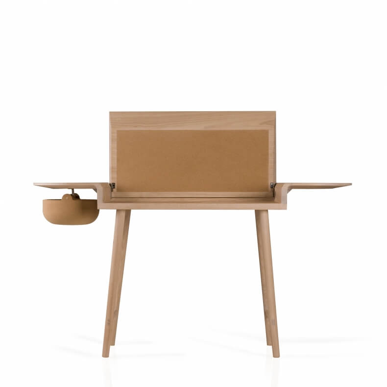 COMPANIONS WRITING DESK SHOWN IN WHITE OILED OAK