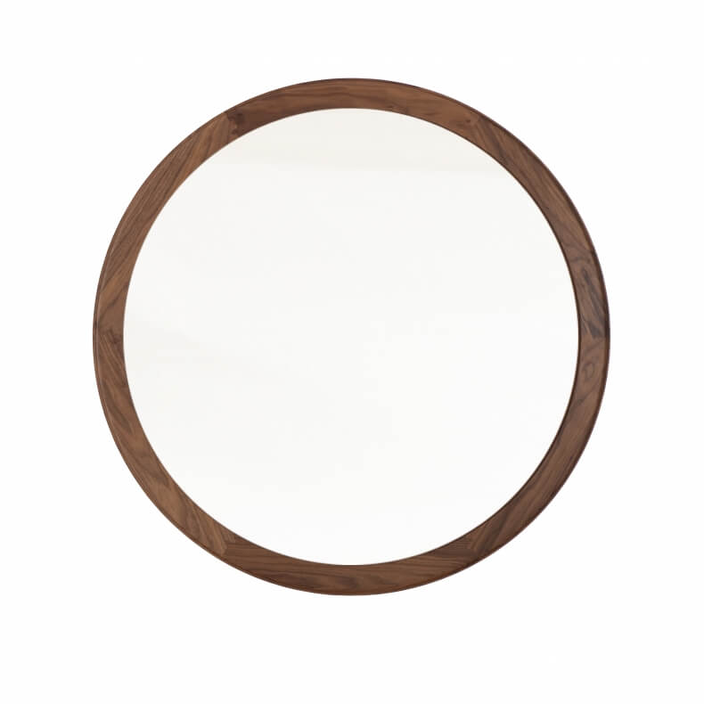 Suite wood coniston large round mirror for Big circle mirror
