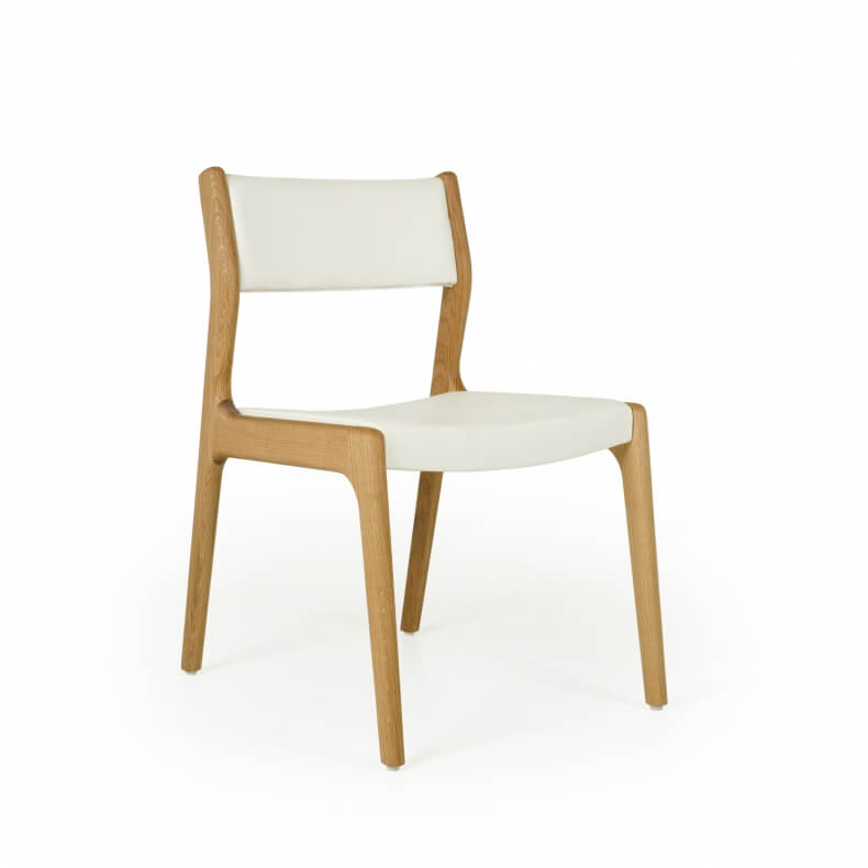 Deer Chair by Autoban in danish oiled oak and with leather