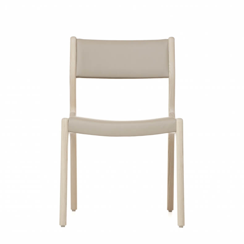 Deer Chair by Autoban in white oiled ash and with leather